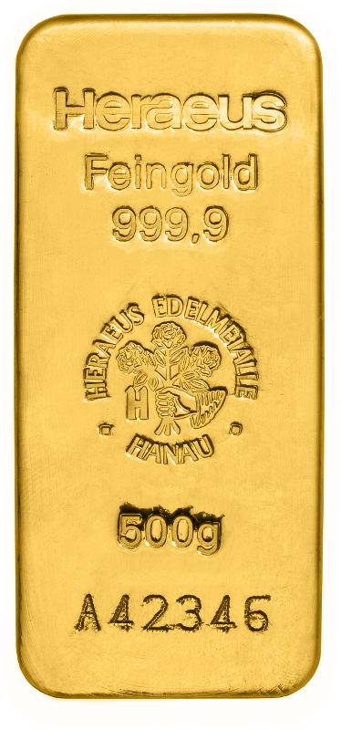 Goldbarren 500g