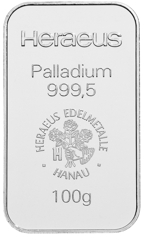 Palladiumbarren 100g