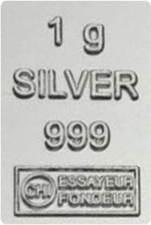 Silberbarren 1g