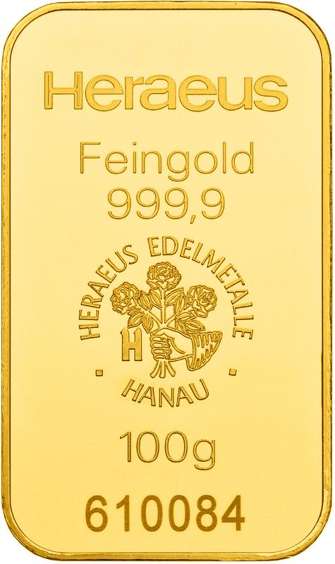 Goldbarren 100g