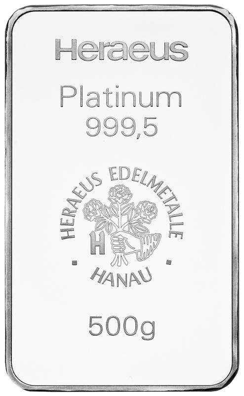 Platinbarren 500g