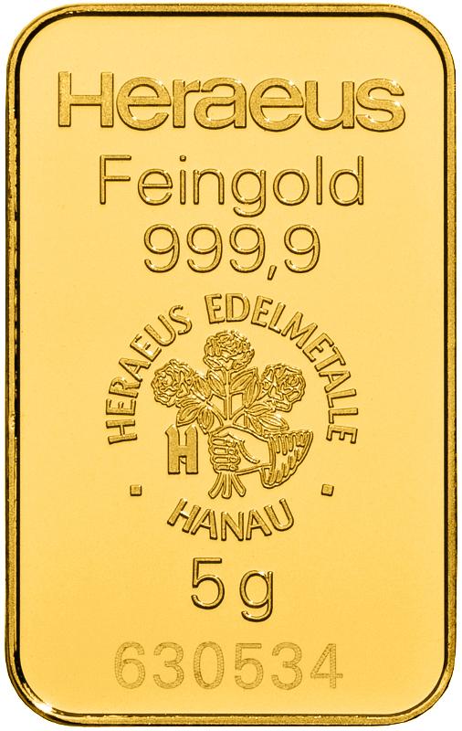 Goldbarren 5g