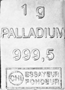 Palladiumbarren 1g