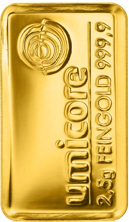 Goldbarren 2,5g